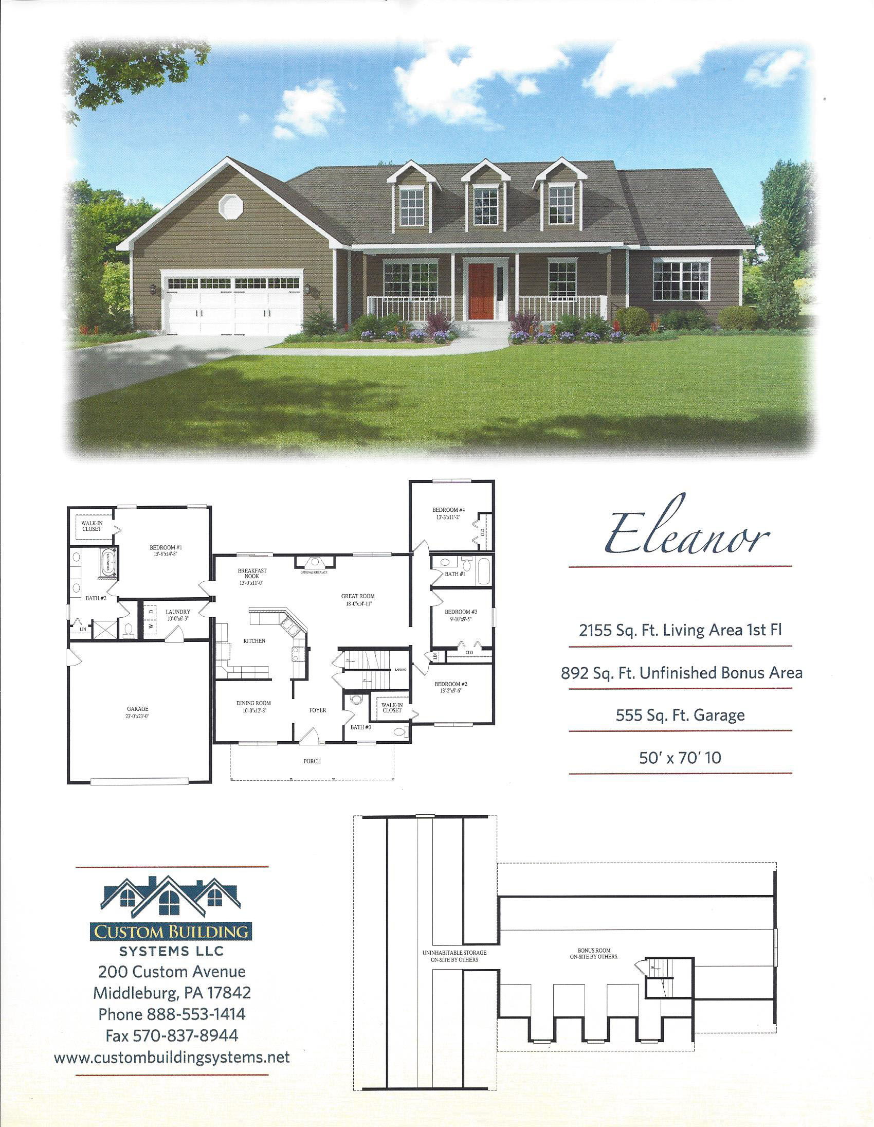 Eleanor for Custom home building plans